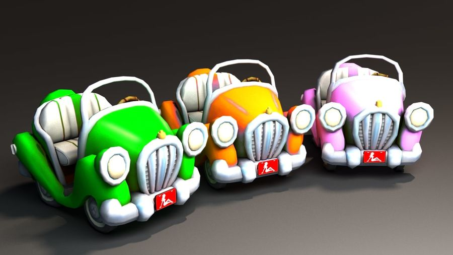 Toon Car royalty-free 3d model - Preview no. 17