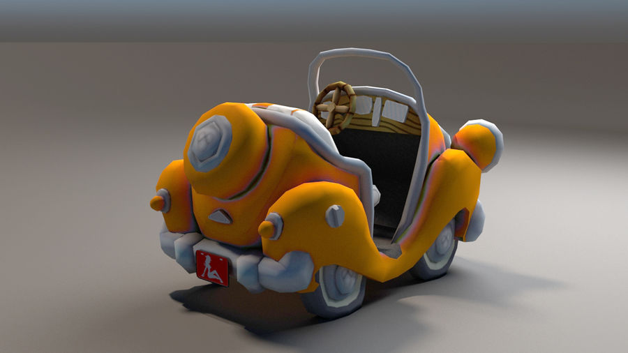 Toon Car royalty-free 3d model - Preview no. 11