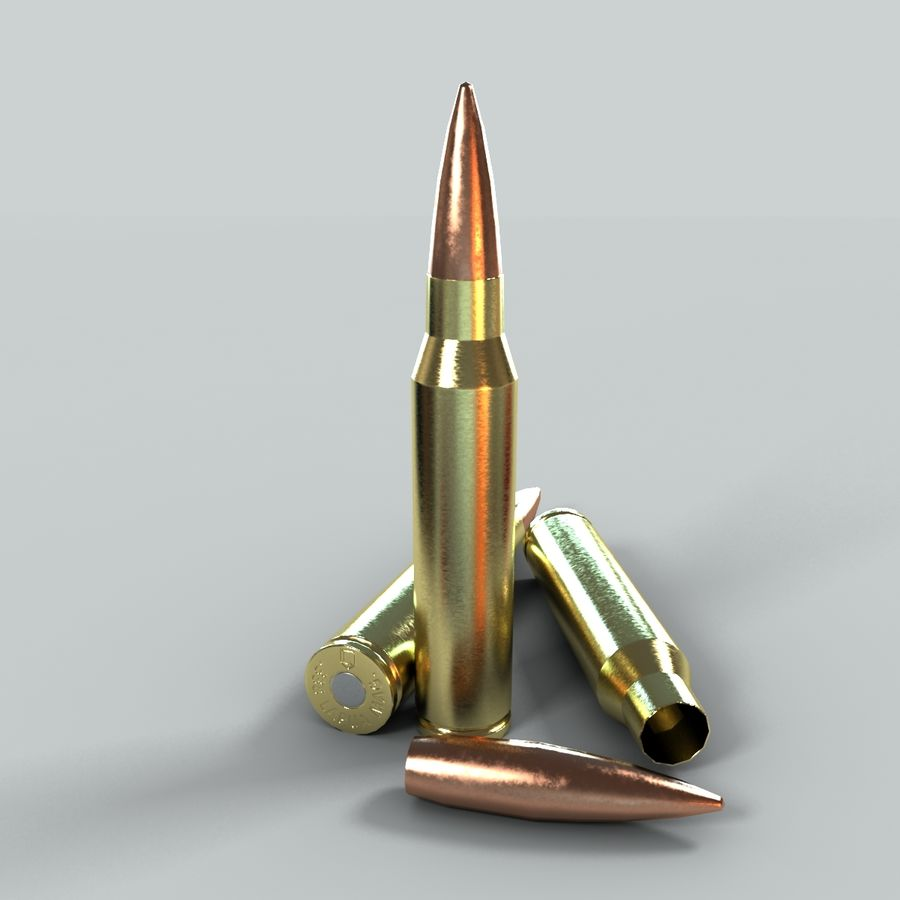Bullet Low Poly royalty-free 3d model - Preview no. 2