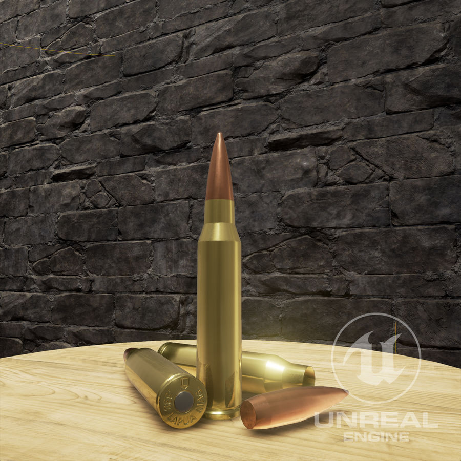 Bullet Low Poly royalty-free 3d model - Preview no. 4