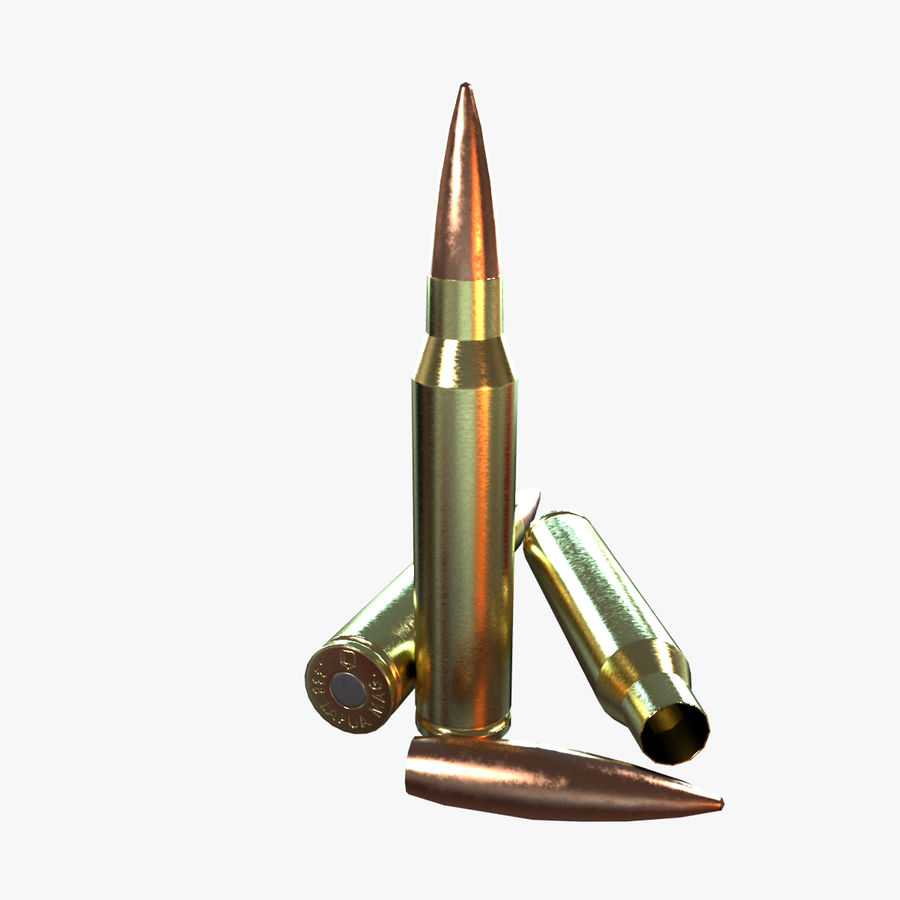 Bullet Low Poly royalty-free 3d model - Preview no. 1