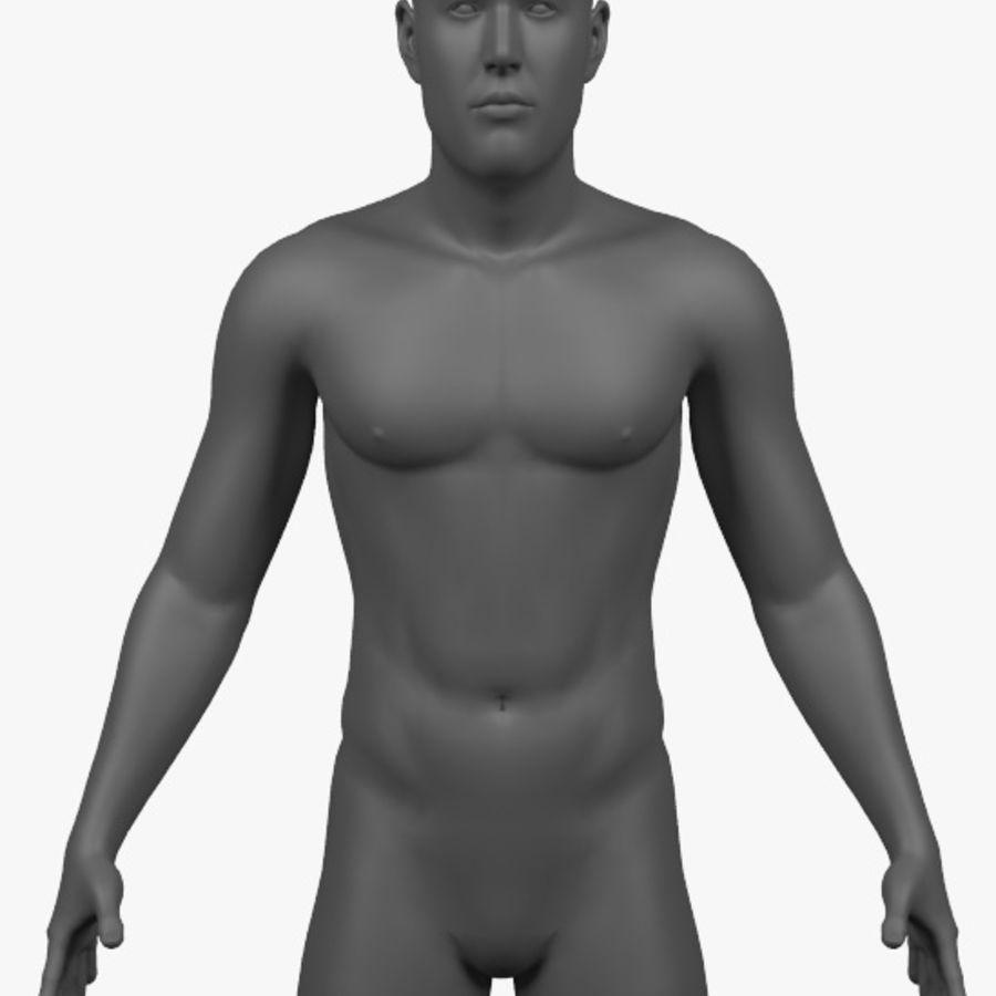 Männlicher Körper - manipuliert royalty-free 3d model - Preview no. 2
