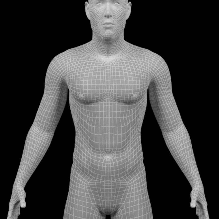 Männlicher Körper - manipuliert royalty-free 3d model - Preview no. 22