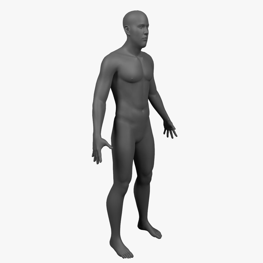 Männlicher Körper - manipuliert royalty-free 3d model - Preview no. 3