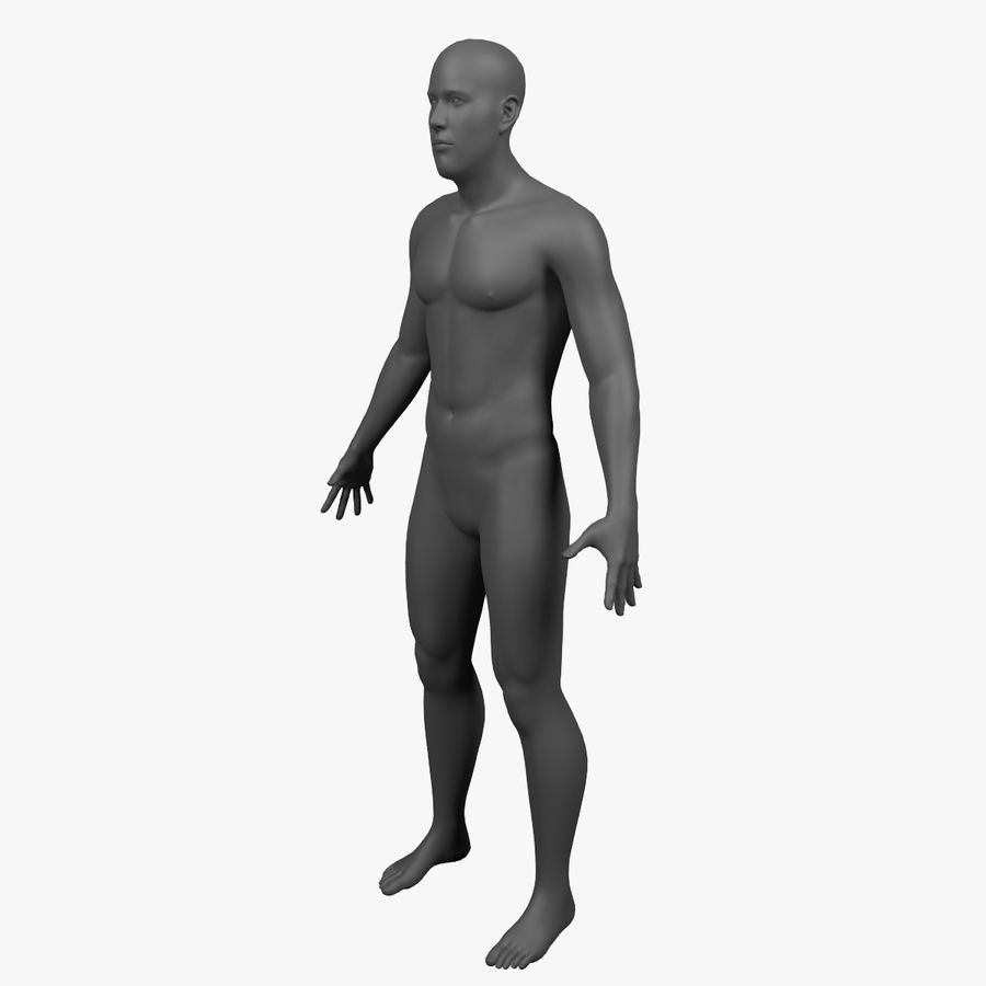 Männlicher Körper - manipuliert royalty-free 3d model - Preview no. 9