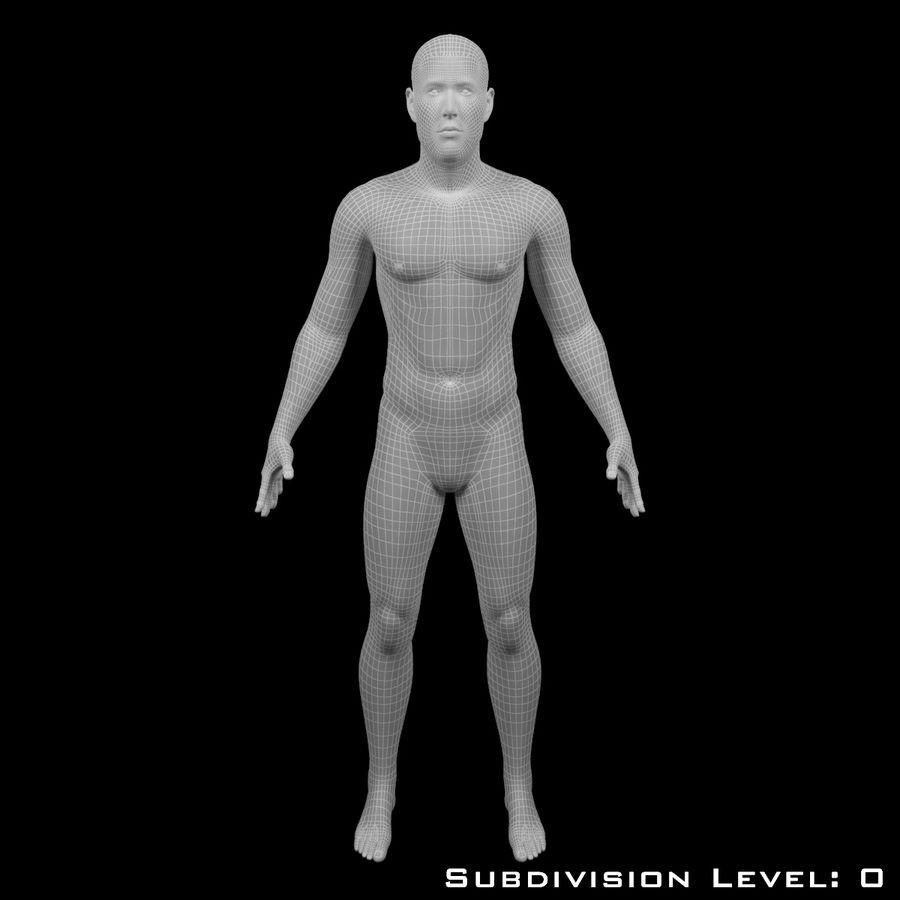 Männlicher Körper - manipuliert royalty-free 3d model - Preview no. 11