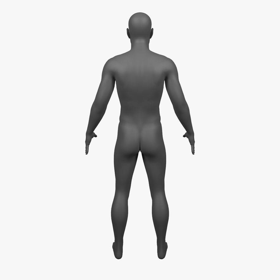 Männlicher Körper - manipuliert royalty-free 3d model - Preview no. 6