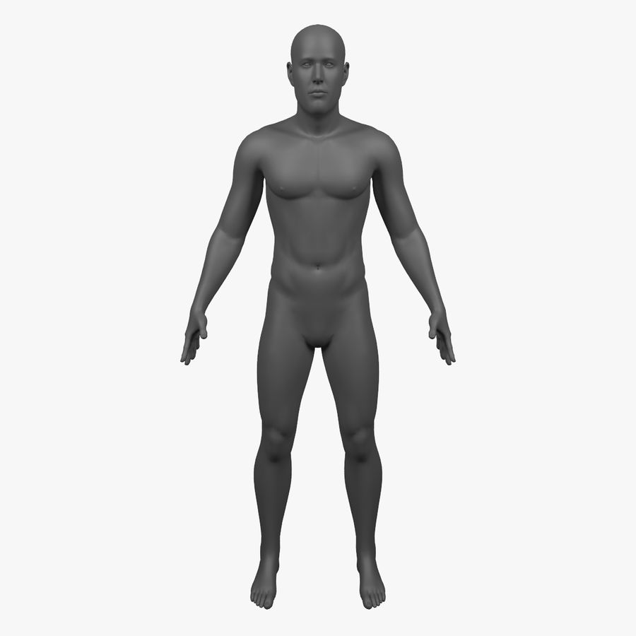 Männlicher Körper - manipuliert royalty-free 3d model - Preview no. 1