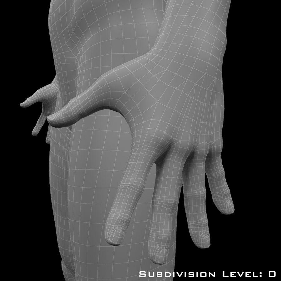 Männlicher Körper - manipuliert royalty-free 3d model - Preview no. 20