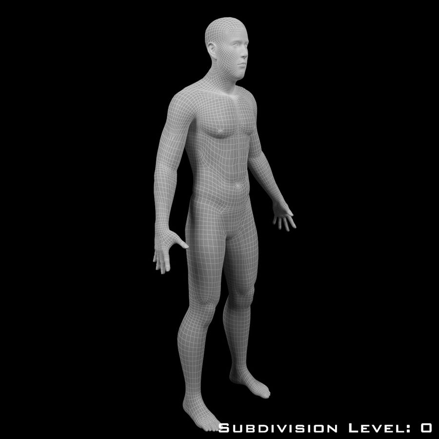 Männlicher Körper - manipuliert royalty-free 3d model - Preview no. 12