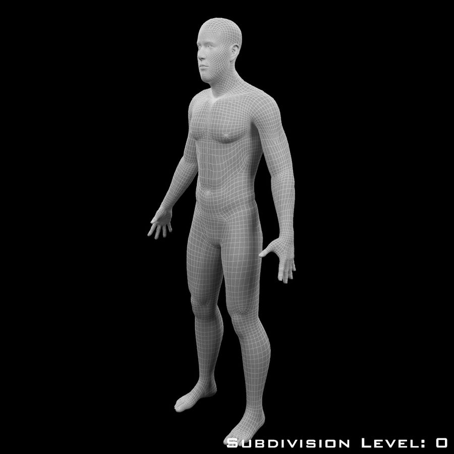 Männlicher Körper - manipuliert royalty-free 3d model - Preview no. 18