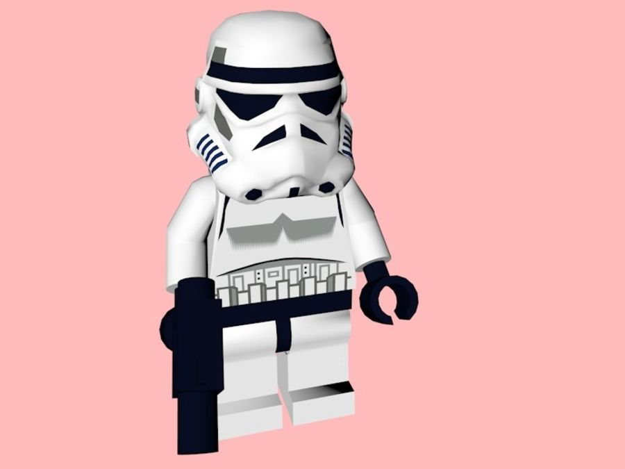 LEGO Stormtrooper royalty-free 3d model - Preview no. 3