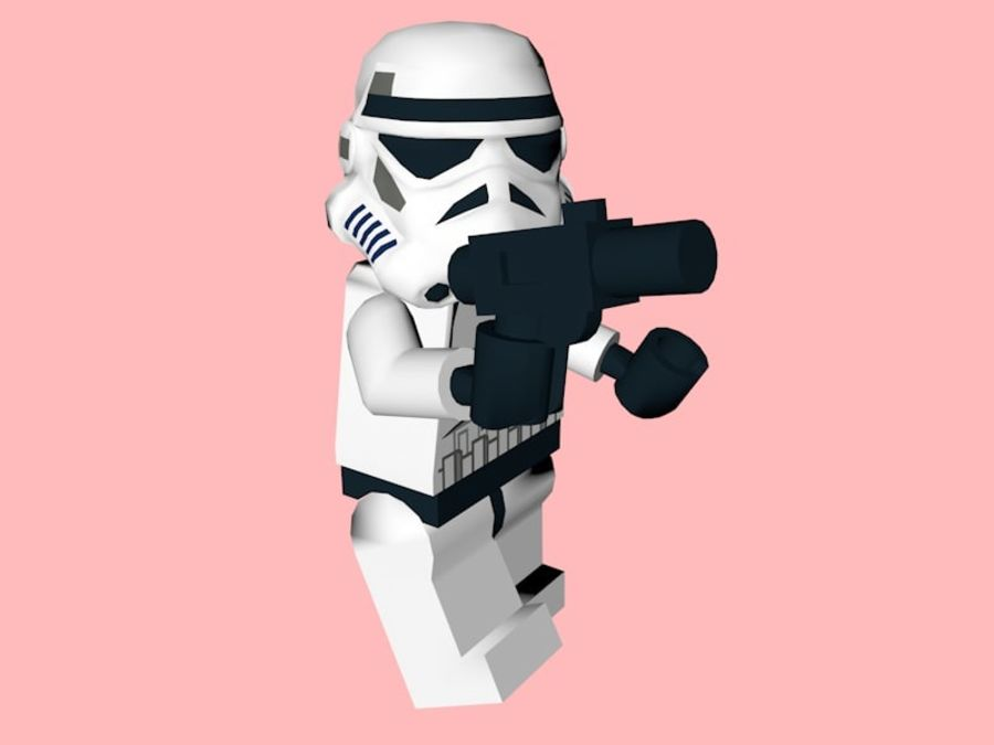 LEGO Stormtrooper royalty-free 3d model - Preview no. 5