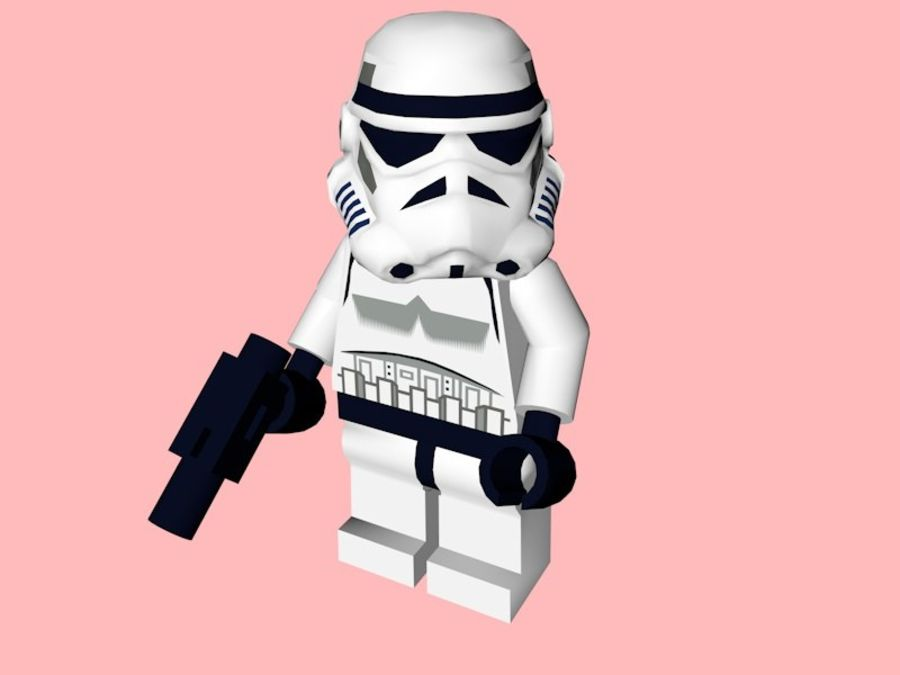 LEGO Stormtrooper royalty-free 3d model - Preview no. 1