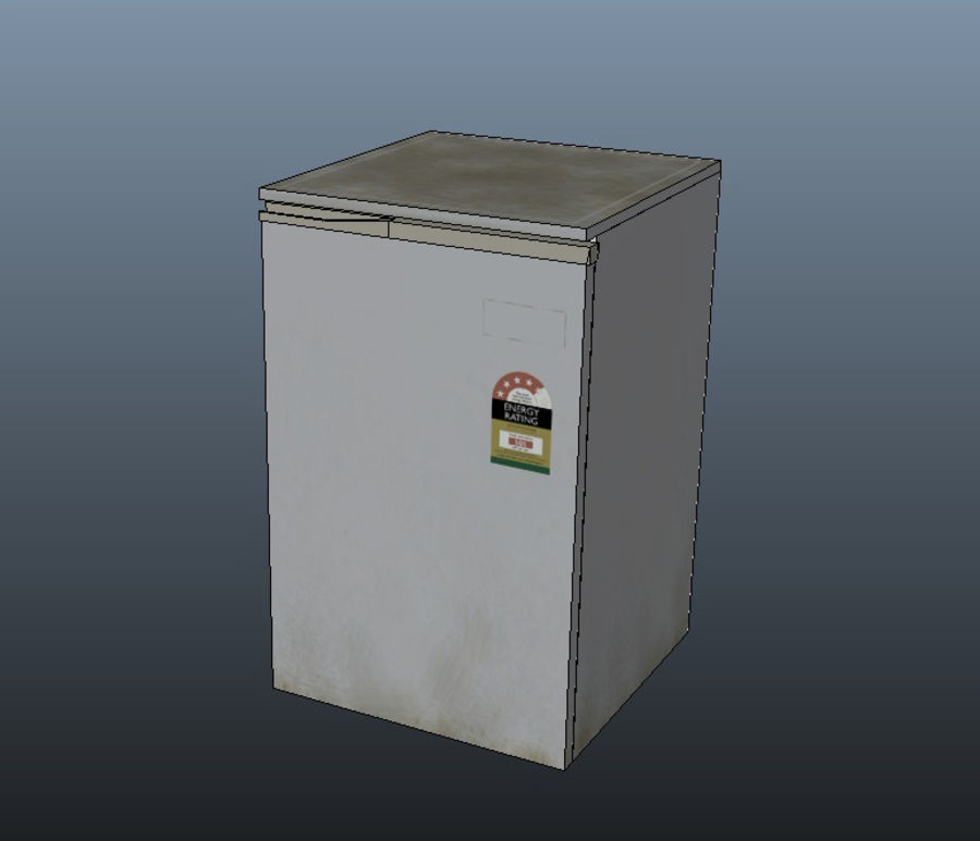 Bar Fridge royalty-free 3d model - Preview no. 4