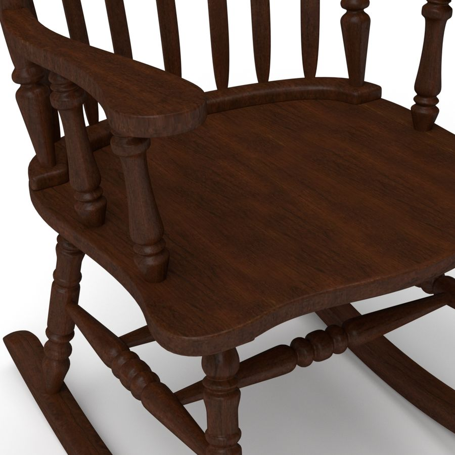 Rocking Chair Red Cherry royalty-free 3d model - Preview no. 4