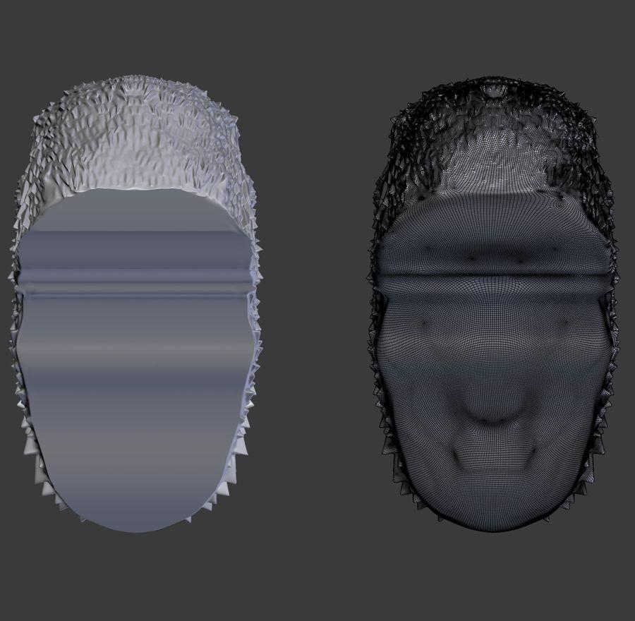 raaf hoofd royalty-free 3d model - Preview no. 6