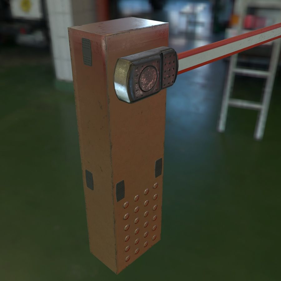 Barrier_lowpoly royalty-free 3d model - Preview no. 11