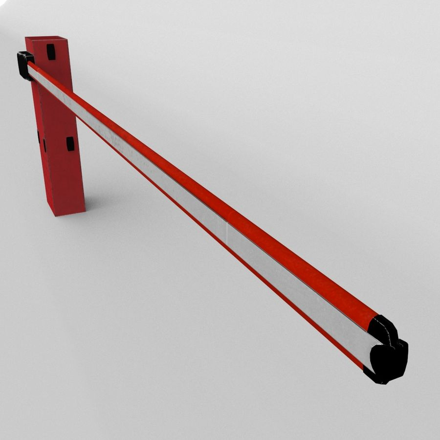 Barrier_lowpoly royalty-free 3d model - Preview no. 5