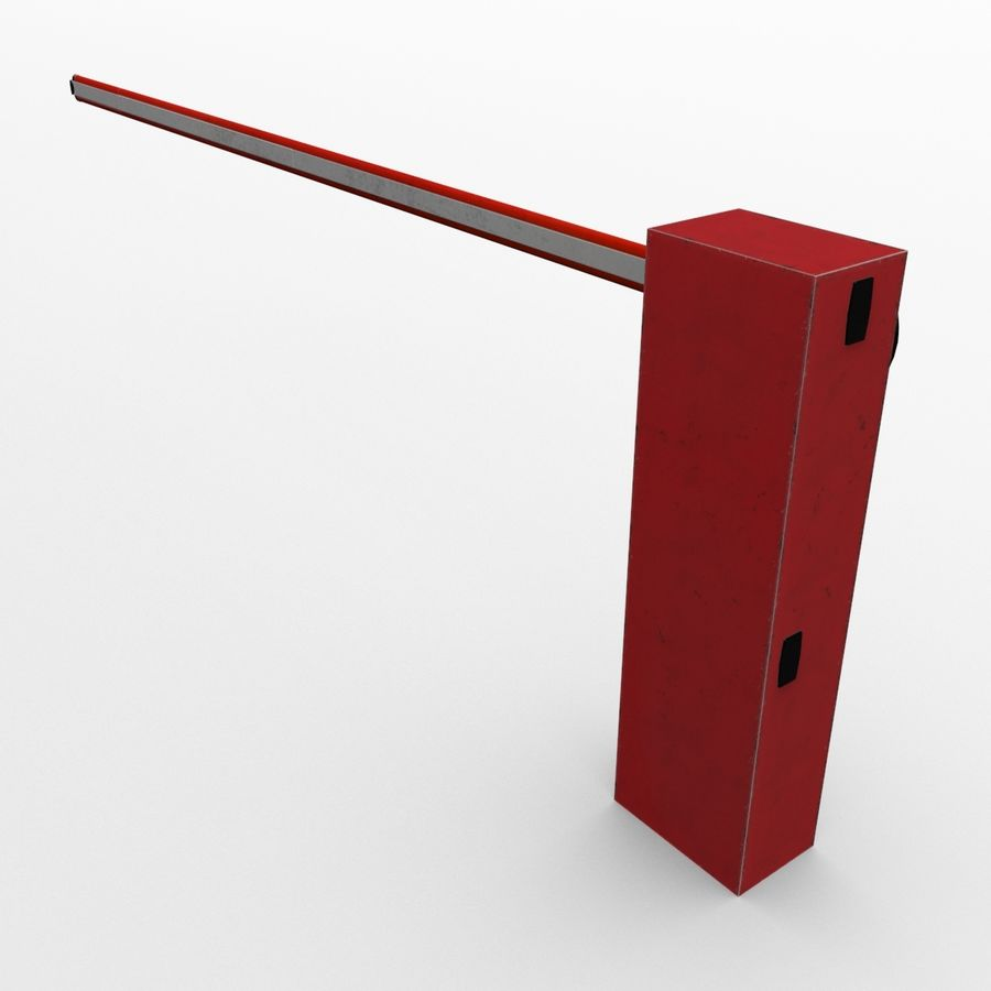 Barrier_lowpoly royalty-free 3d model - Preview no. 3