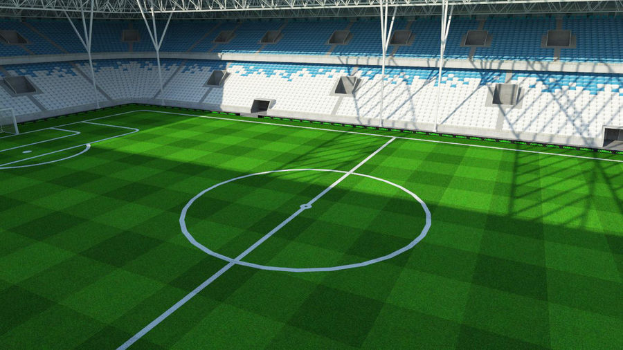 Soccer Stadium 2 royalty-free 3d model - Preview no. 5