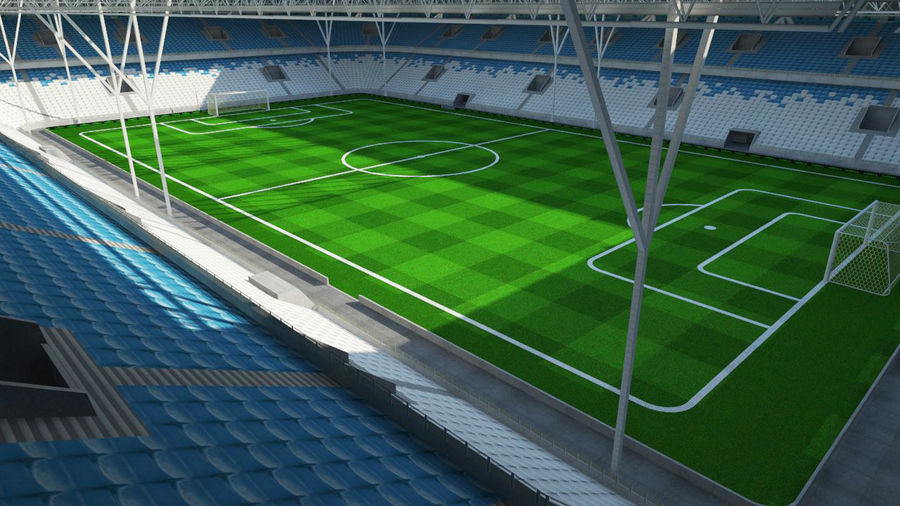 Soccer Stadium 2 royalty-free 3d model - Preview no. 4