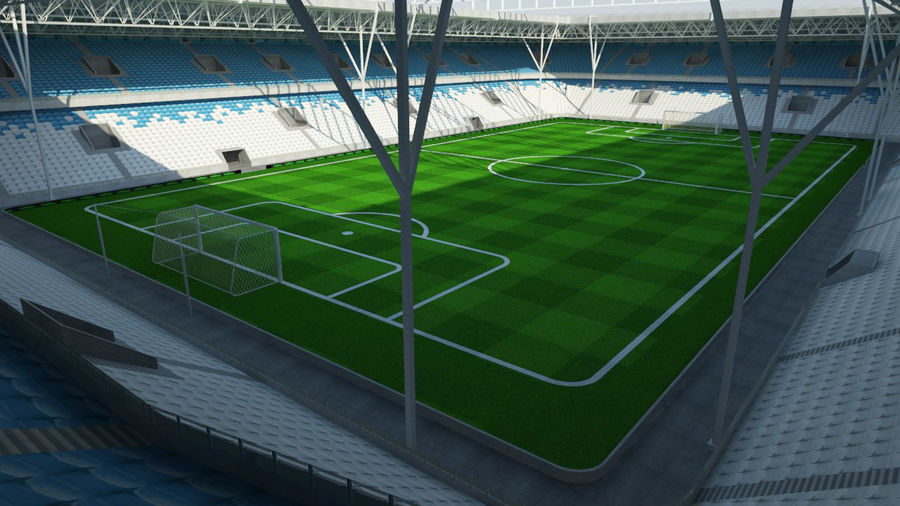 Soccer Stadium 2 royalty-free 3d model - Preview no. 3