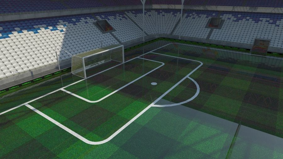 Soccer Stadium 2 royalty-free 3d model - Preview no. 2
