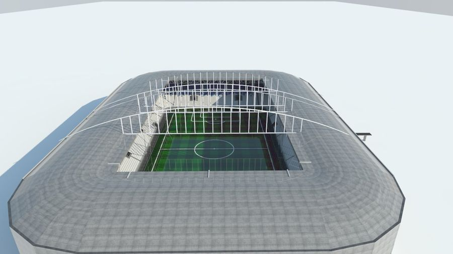 Soccer Stadium 2 royalty-free 3d model - Preview no. 6
