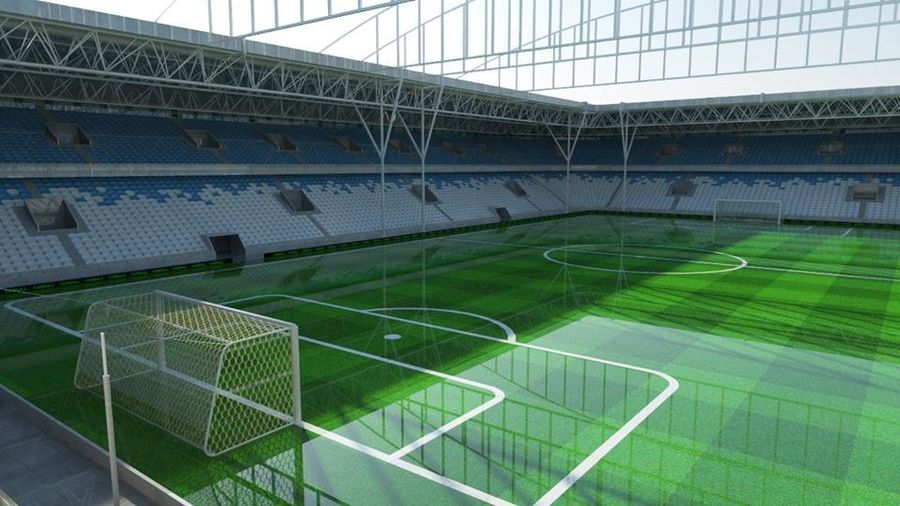 Soccer Stadium 2 royalty-free 3d model - Preview no. 1
