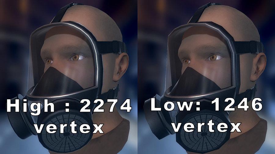 Máscara de gas royalty-free modelo 3d - Preview no. 5