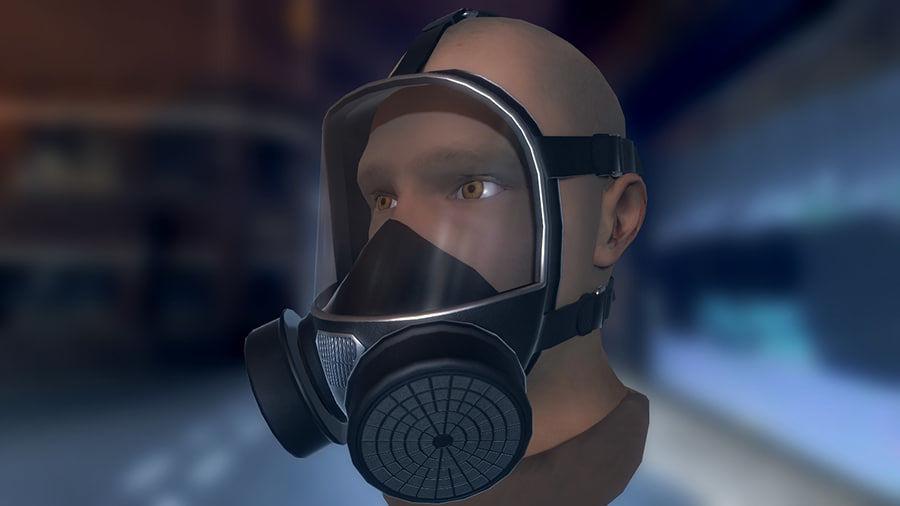 Máscara de gas royalty-free modelo 3d - Preview no. 1