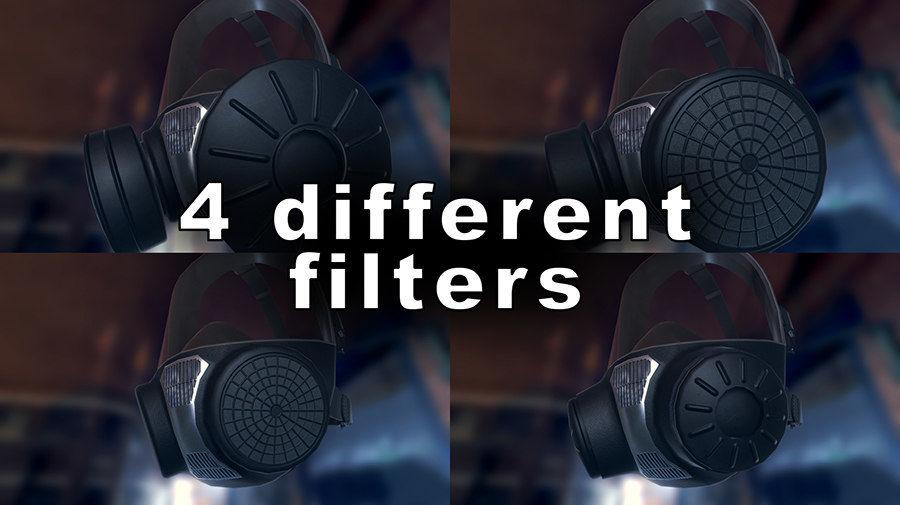 Máscara de gas royalty-free modelo 3d - Preview no. 4