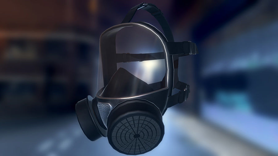 Máscara de gas royalty-free modelo 3d - Preview no. 2