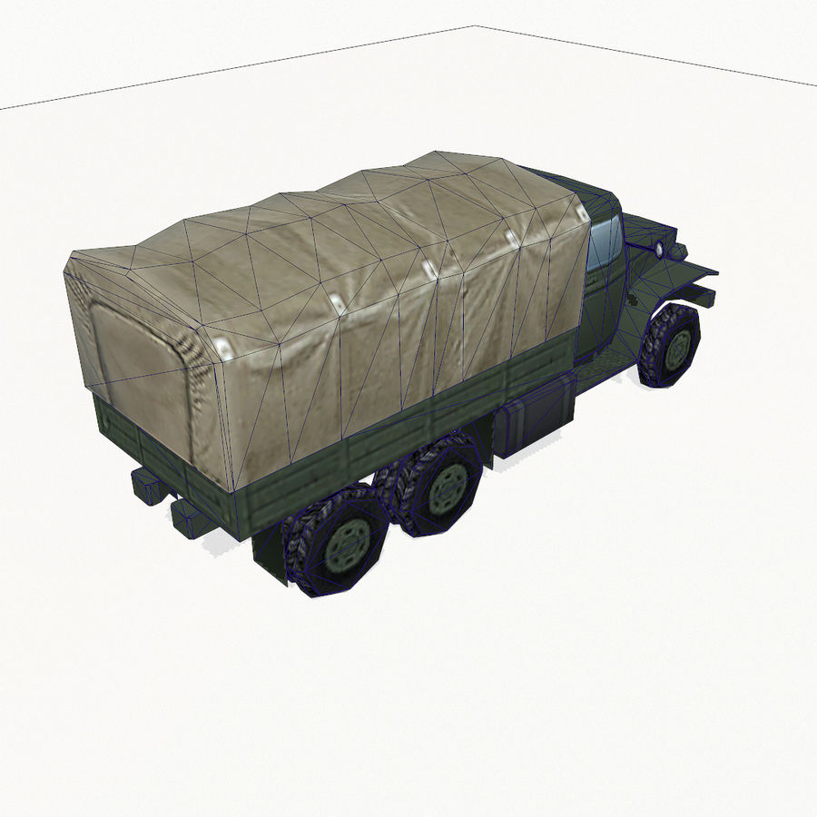 Camion militar royalty-free modelo 3d - Preview no. 11