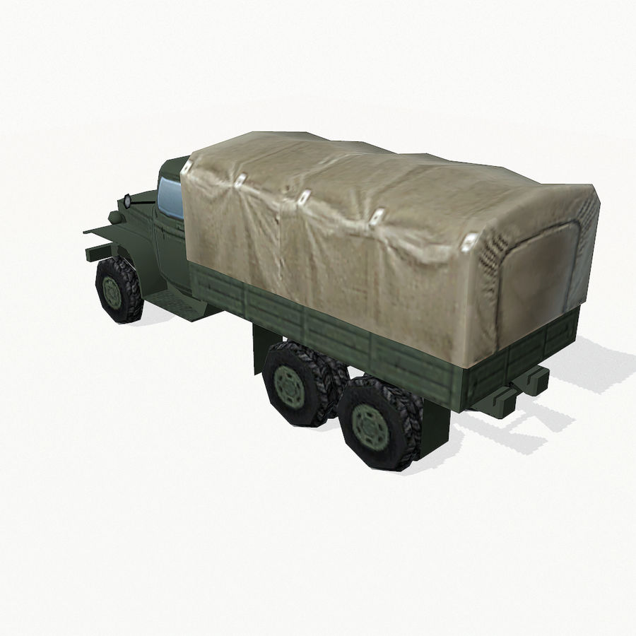 Camion militar royalty-free modelo 3d - Preview no. 5
