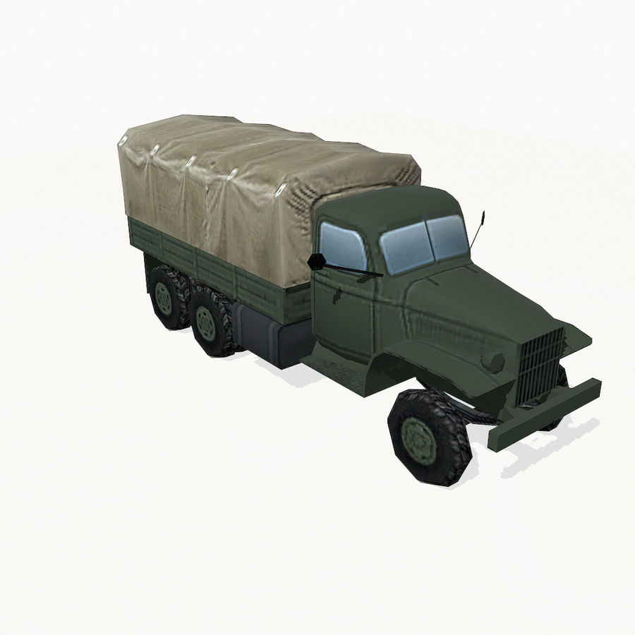 Camion militar royalty-free modelo 3d - Preview no. 8