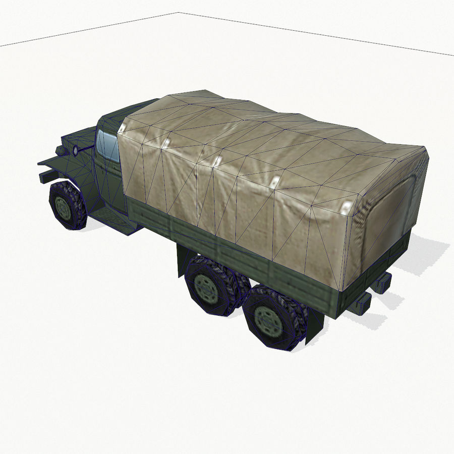 Camion militar royalty-free modelo 3d - Preview no. 10