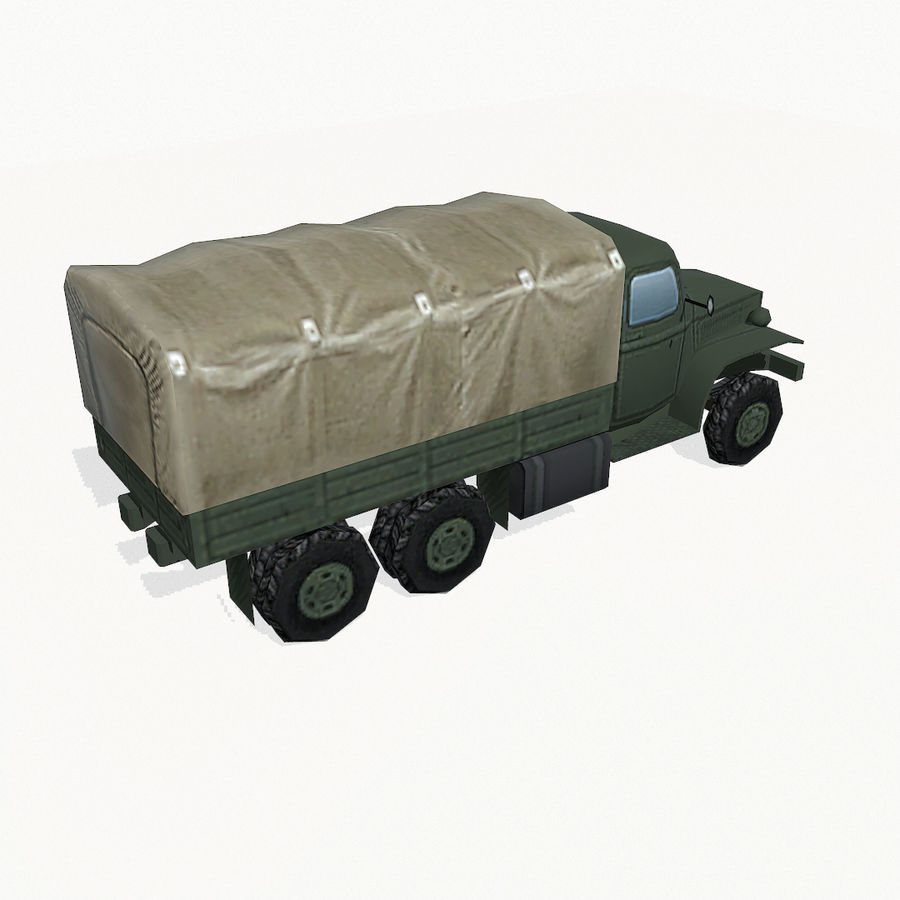 Camion militar royalty-free modelo 3d - Preview no. 6