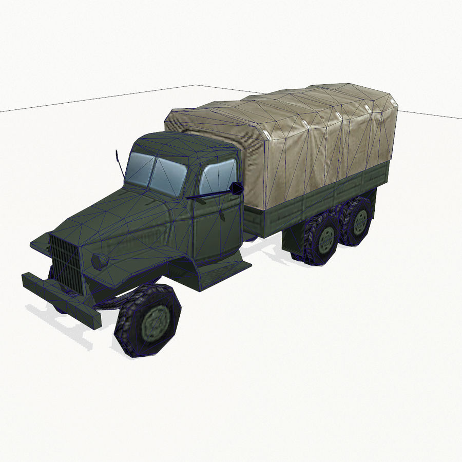 Camion militar royalty-free modelo 3d - Preview no. 9