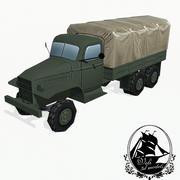 军用卡车 3d model