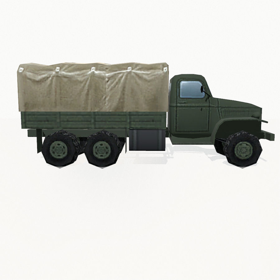 Camion militar royalty-free modelo 3d - Preview no. 7