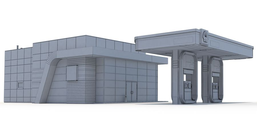 Shell gas station royalty-free 3d model - Preview no. 7