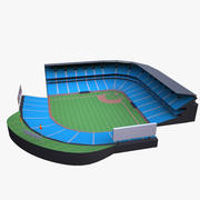 Stade de baseball 3d model