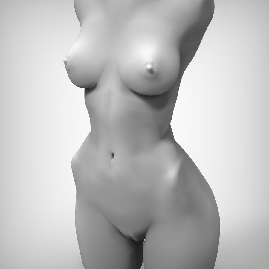 Красота Женщина Торс royalty-free 3d model - Preview no. 3