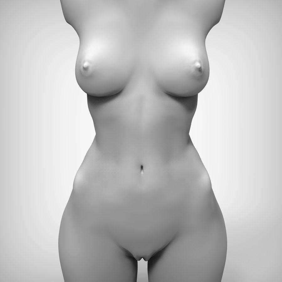Красота Женщина Торс royalty-free 3d model - Preview no. 1