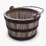 木制中世纪桶 3d model