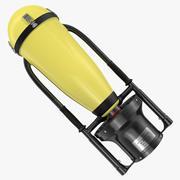 Scooter eléctrico de buceo modelo 3d