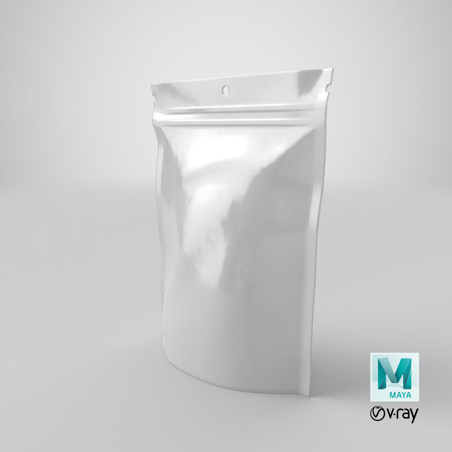 Doypack Pouch royalty-free 3d model - Preview no. 20