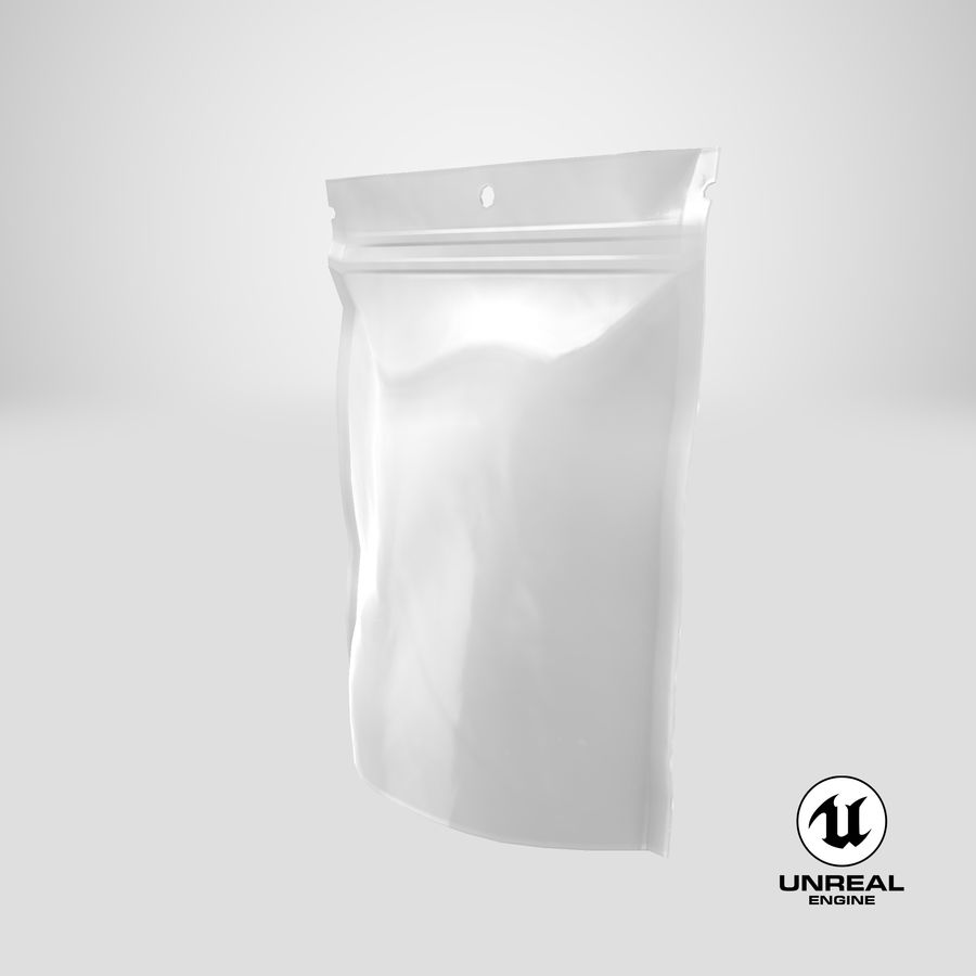Doypack Pouch royalty-free 3d model - Preview no. 24
